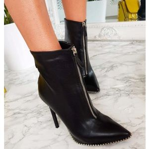 Shoes - Studded high heel boots